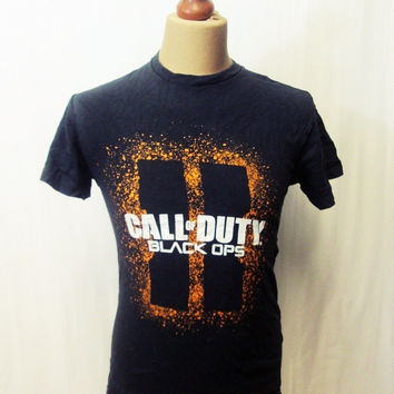 Retro 90s Call Of Duty Black Ops Gamer Graphic T Shirt XS