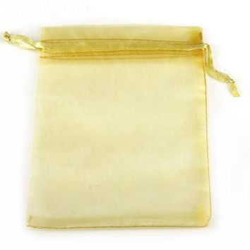 50pcs 7x9 / 10x12cm Baby Shower Organza Bags Jewelry Gifts Party Favors