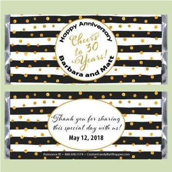 Elegant Anniversary Candy Bar Wrappers