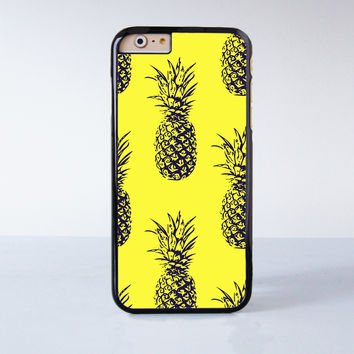 Yellow Pineapple Collection  Plastic Case Cover for Apple iPhone 4 4s 5 5s 5c 6 6s Plus