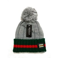 GUCCI Women Men Embroidery Beanies Knit Hat Warm Woolen Hat