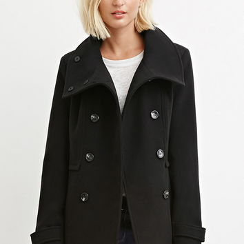 Button-Front Peacoat
