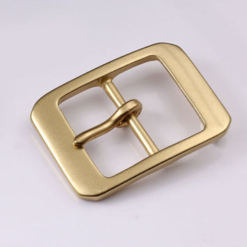 38mm Copper Free Single Prong Solid Brass Horseshoe Belt Buckle DIY Leathercraft Metal Accessories 431