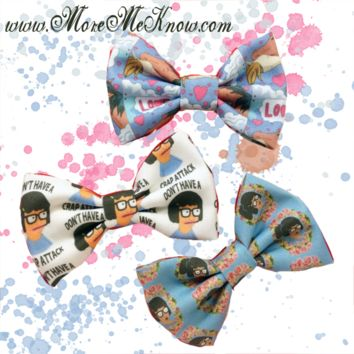 Tina Belcher Bow Hair Clip Set