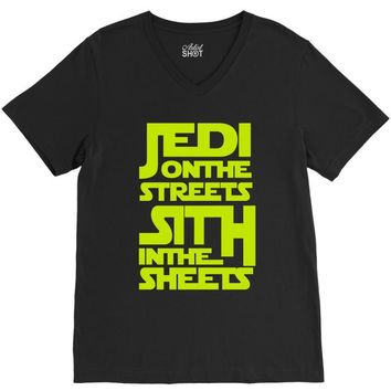 Jedi On The Streets Sith In The Sheets V-Neck Tee
