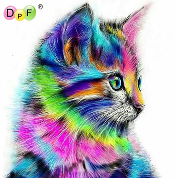 New Diy Diamond Painting color Animals Squirrel full Cat 5d Square Diamond Mosaic Cross Stitch Kit Diamond Embroidery home decor