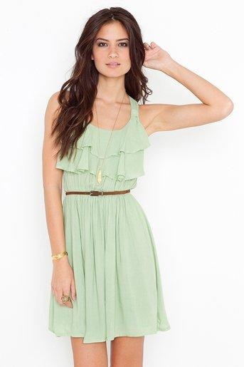 Ruffled Racer Dress