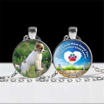 2017 DIY Jewelry for Dog Rainbow Bridge Love Forever Pet Loss Gift Necklace The Rainbow Bridge Pendant for Dog Lover