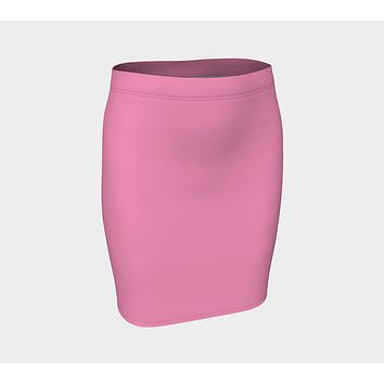 Solid Fitted Skirt - Light Pink