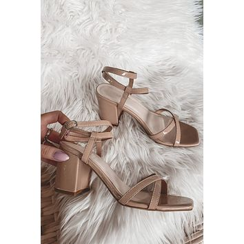 Caught In The Nude Strappy Heels