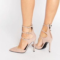 Kendall & Kylie | Kendall & Kylie Alisha Nude Suede Caged Pointed Pumps at ASOS