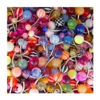 """20 Assorted Belly Button Navel Rings Surgical Steel - 14 Gauge 7/16"""""""