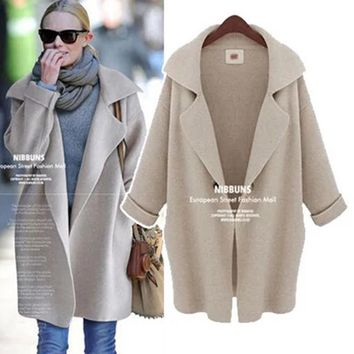Sweater Winter Blazer Knit Plus Size Women's Fashion Jacket [22395584538]