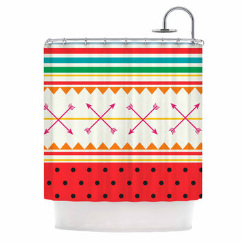 "Famenxt ""Watermelon Arrows and Colors"" -Tags Shower Curtain"