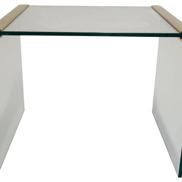 Pace Brass & Glass End Table