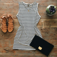 A Striped Tank Dress with Pockets