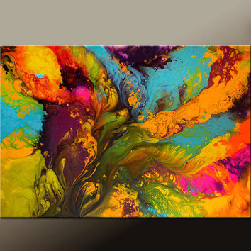 Abstract Canvas Art Painting Canvas 36x24 Original Modern Contemporary Paintings by Destiny Womack - dWo - Pure Bliss