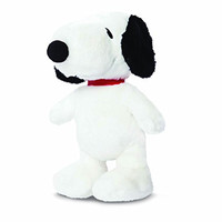 Official Peanuts Snoopy Dog Sitting Super Soft Plush Toy - 11""