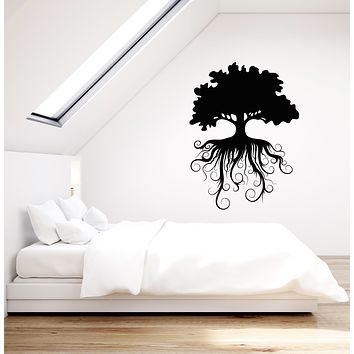 Vinyl Wall Decal Family Tree Roots Ecology Nature Stickers (3667ig)