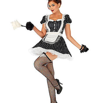 Adult Frisky French Maid Costume - Spirithalloween.com