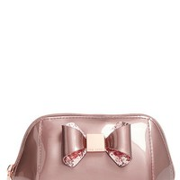 Ted Baker London 'Small Glitter Bow Trapeze' Cosmetics Case | Nordstrom