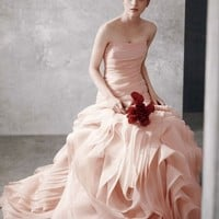 Buy Organza Fit and Flare Gown with Bias Flange Skirt Style VW351011  for $229.55 only in Fashionwithme.com.