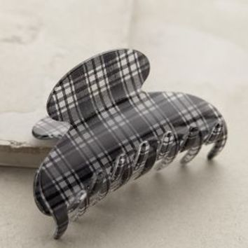 Pinehurst Plaid Clip by France Luxe Black & White One Size Hair