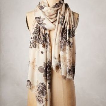 Yarrow Scarf by Anthropologie Ivory One Size Scarves