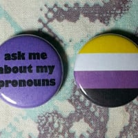 Non-Binary Buttons - Set of 2