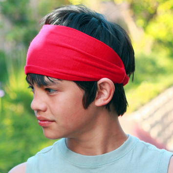 Mens Headband, Red Headband, Men's Headbands, Running Headband (Item 1011) Large