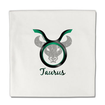 "Taurus Symbol Micro Fleece 14""x14"" Pillow Sham"