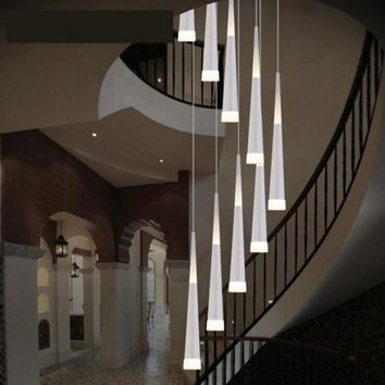 Lampshade pendant lighting - Stairs Chandelier - Free Shipping