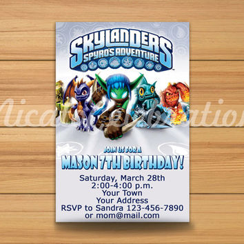 Skylanders Design Invitation - Digital File (2)