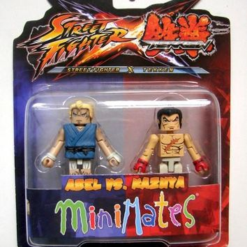 Street Fighter X Tekken Abel Vs Kazuya Minimates Action Figures