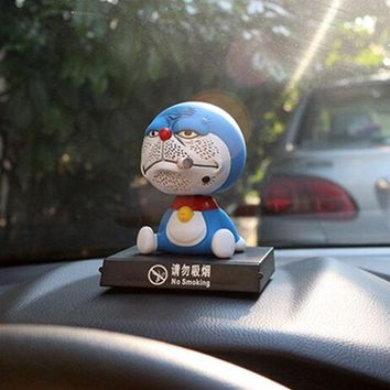 2016 New 1Pcs Cute Shook Head Dolls Car Furnishing Articles Ornaments Auto Inside Crafts Decoration Toy Cartoon Model