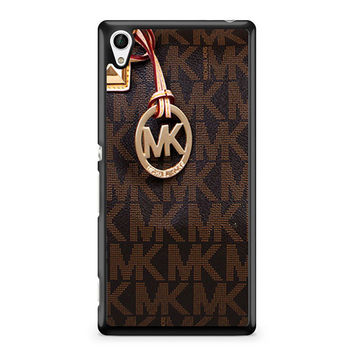 Michael Kors Logo Brown iPhone 5C Sony Xperia Z4 Case