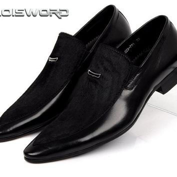 LOISWORD mens suede dress shoes