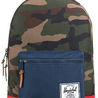 Herschel Supply  The Settlement Plus Backpack in Woodland Camo Navy Red : Karmaloop.com - Global Concrete Culture