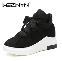 WGZNYN 2017 Fashion Women Platform Casual Shoes Ladies Girls Swing Shoes Breathable Zapatillas Mujer Chaussures Femme