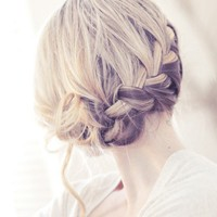 Hair / ...love Maegan: Pretty Side French Braid low Updo Hair Tutorial Fashion+Home+Li
