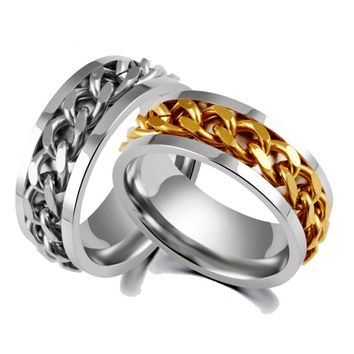 Never Fade Stainless Steel Couple Ring