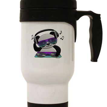 Panda DJ Stainless Steel 14oz Travel Mug