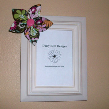 Photo Frame 4x6 Cottage Chic Flower by daisybethdesigns on Etsy