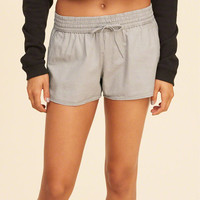 Girls Curved Hem Twill Shorts | Girls Bottoms | HollisterCo.com