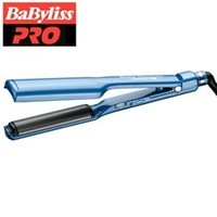 "Babyliss Nano Titanium and Ceramic Curved Plate Iron / Deep Curve Styler (1-1/2"" inch) - BNTC3556C - Flat Irons"