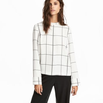 H&M Blouse with Stand-up Collar $24.99