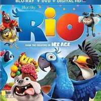 Rio (Blu-Ray/Dvd/Uv) Triple Play (Family Icons O-Ring)
