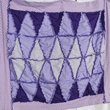 PATTERN Rag Quilt, Diamond, Triangles, for Toddler Bedding, Baby Blanket, Twin SEWING Instructions, Email PDF