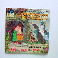 Vintage The Hobbit Read Along Book and Record 1977