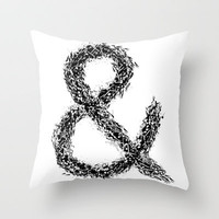 Ampersand Throw Pillow by Ismael Sandiego
